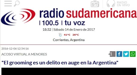 El Grooming es un delito en auge en la Argentina